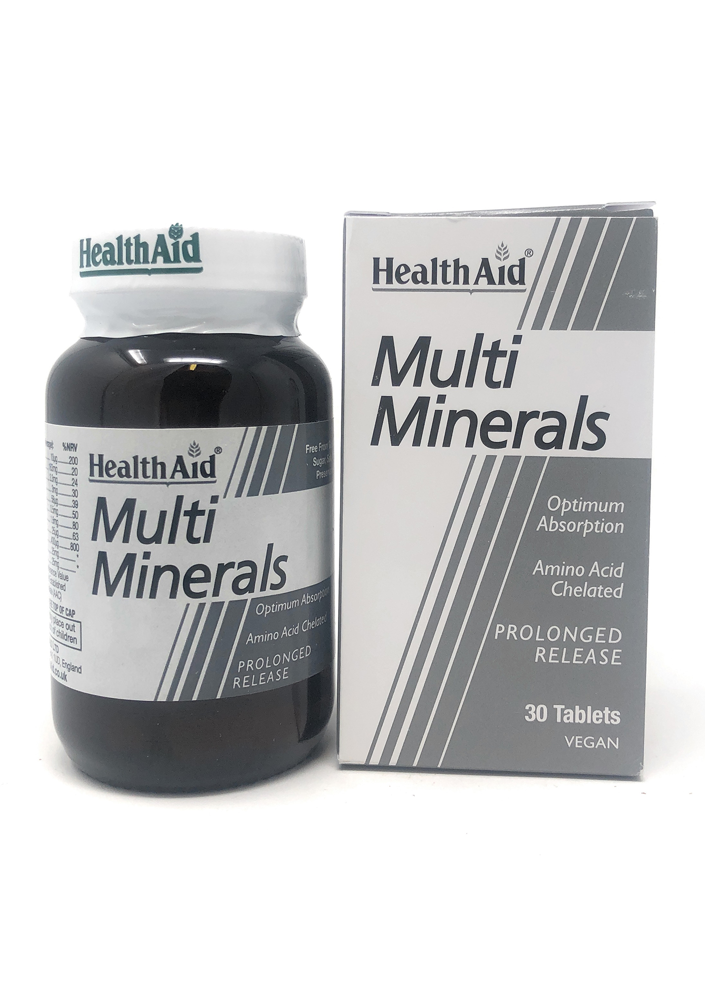 HealthAid Multi Minerals (verz. Freisetzung) 30 Tabletten (vegan)