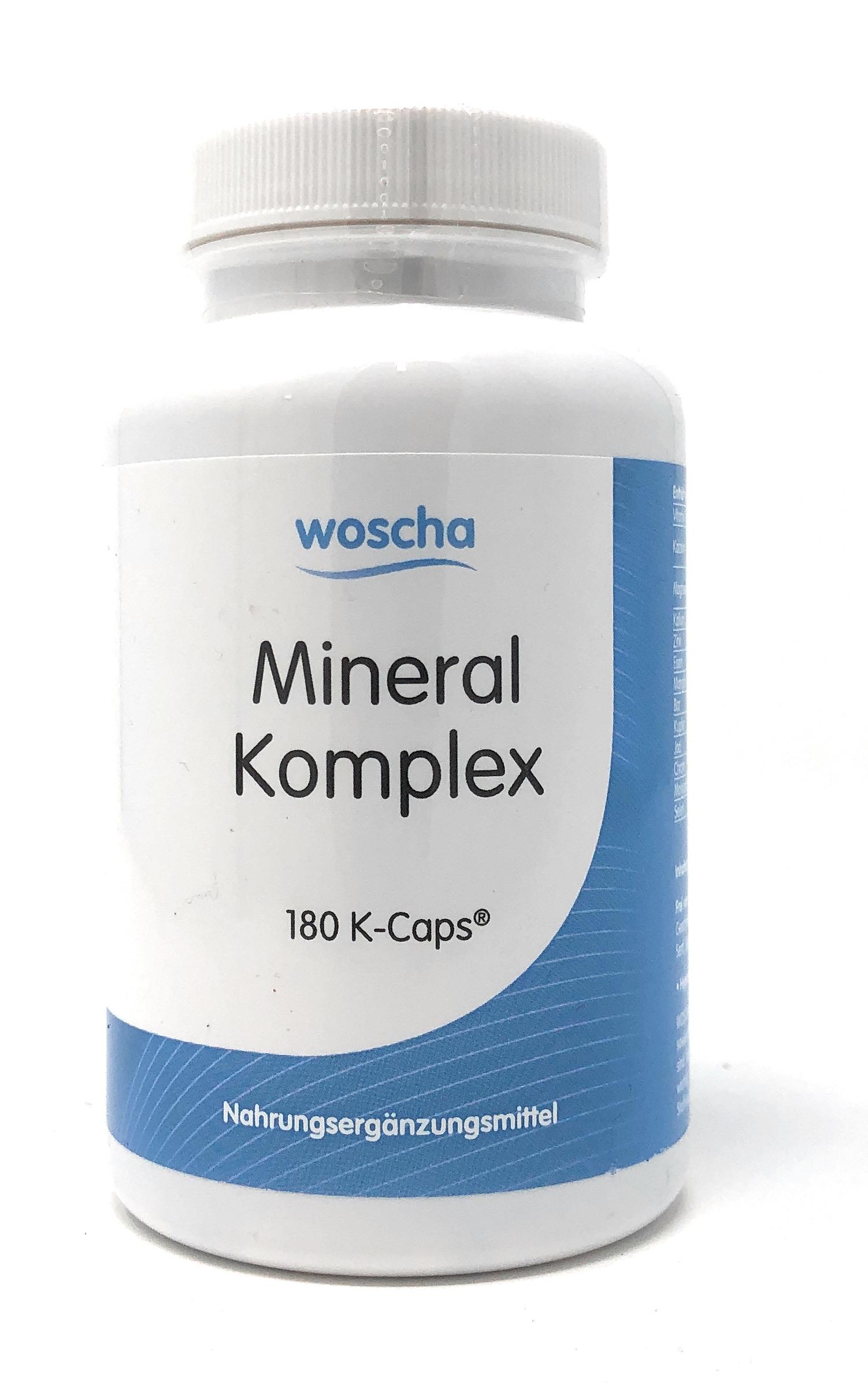 woscha Mineral Komplex 180 veg.Kapseln (K-Caps) (141g)