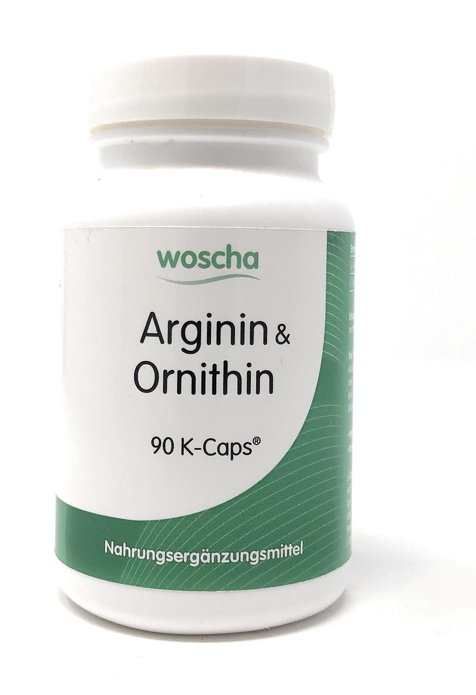 woscha Arginin und Ornithin 90 K-CAPS® (80g)