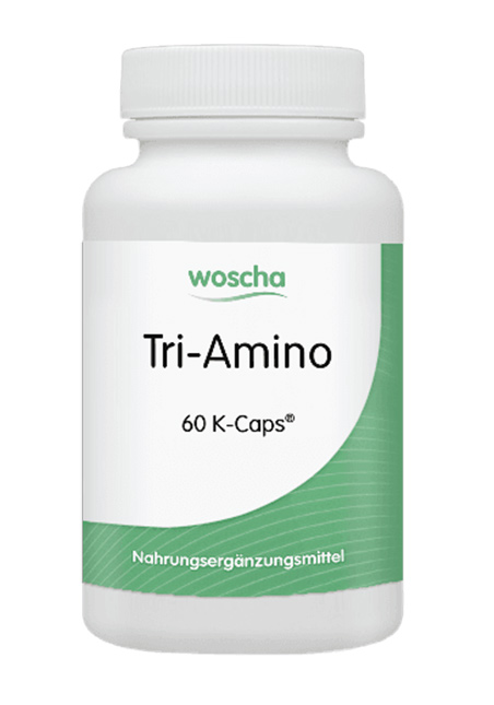 woscha Tri-Amino (L-Arginin, L-Ornithin, L-Lysin) 60 veg. Kapseln (K-Caps) (55g) (vegan)