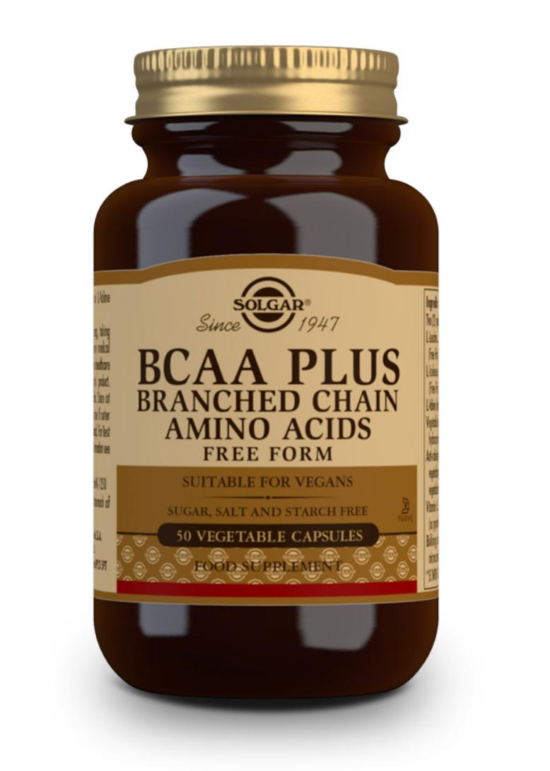 Solgar BCAA Plus (Branched Chain Amino Acids) 50 veg. Kapseln (vegan)
