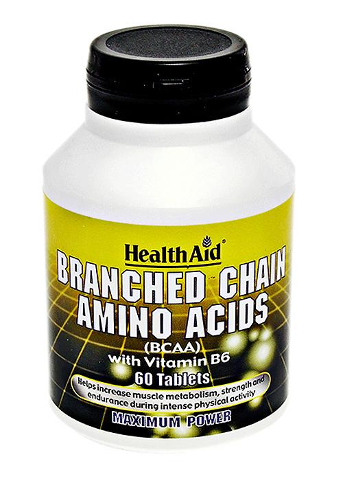 HealthAid Branch Chain Amino Acids (BCAAs - Leucin, Isoleucin, Valin) 60 Tabletten