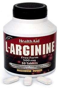 Health Aid L-Arginine 500mg 60 Tabletten (vegan)