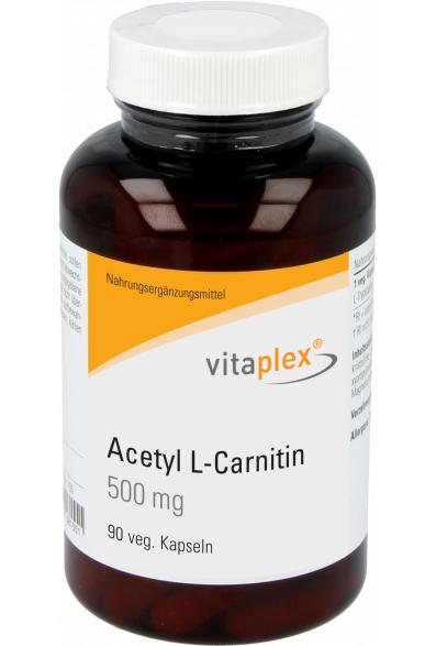 Vitaplex Acetyl-L-Carnitin 500mg 90 veg. Kapseln