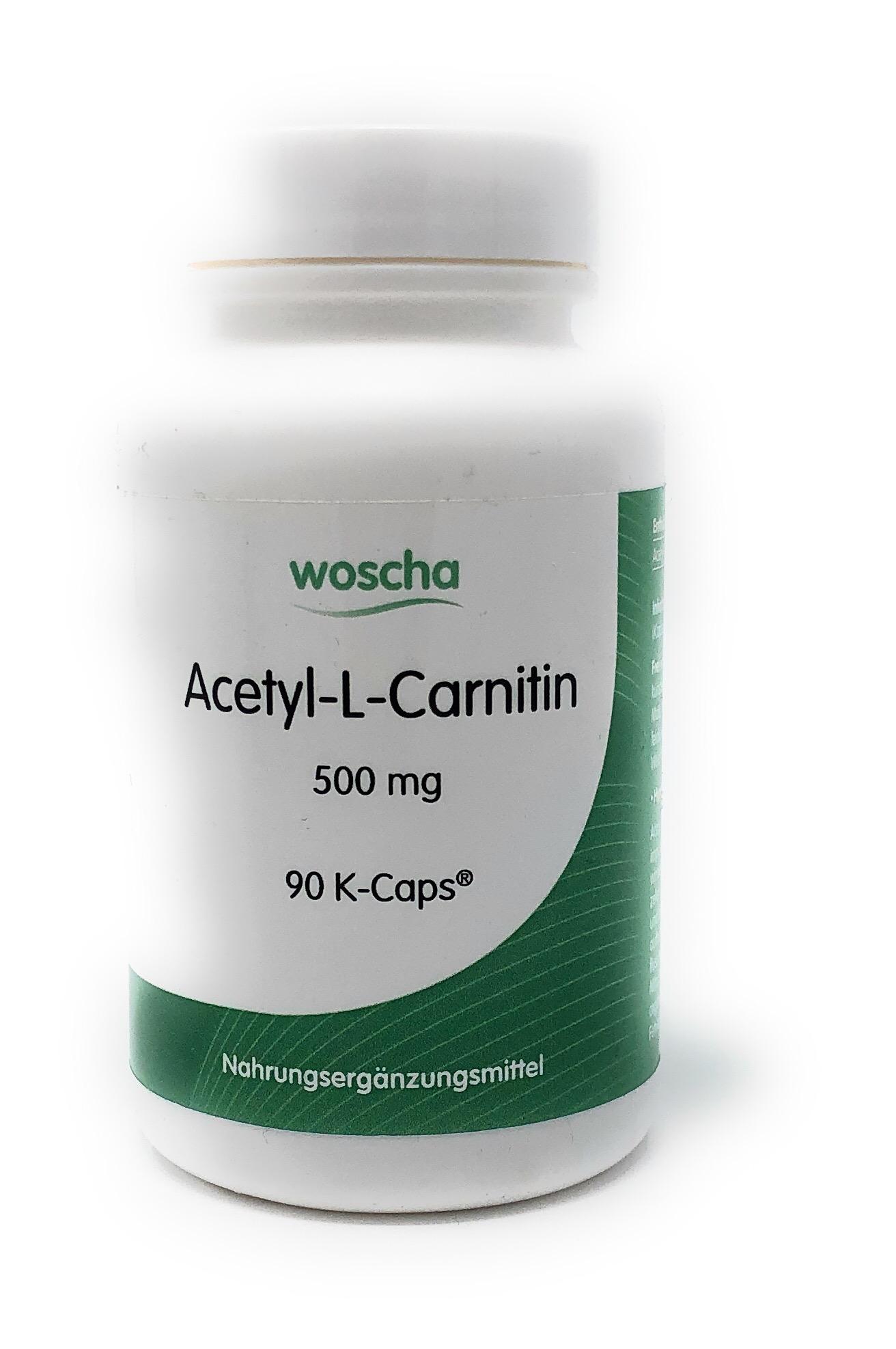 woscha Acetyl-L-Carnitin 90 K-CAPS® (53g) (vegan)