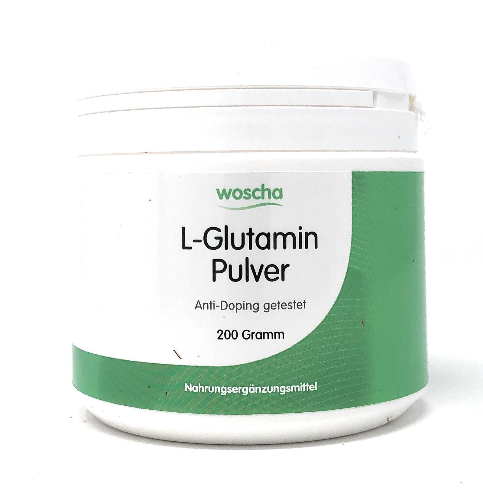 woscha L-GLUTAMIN PULVER 200 g (vegan)