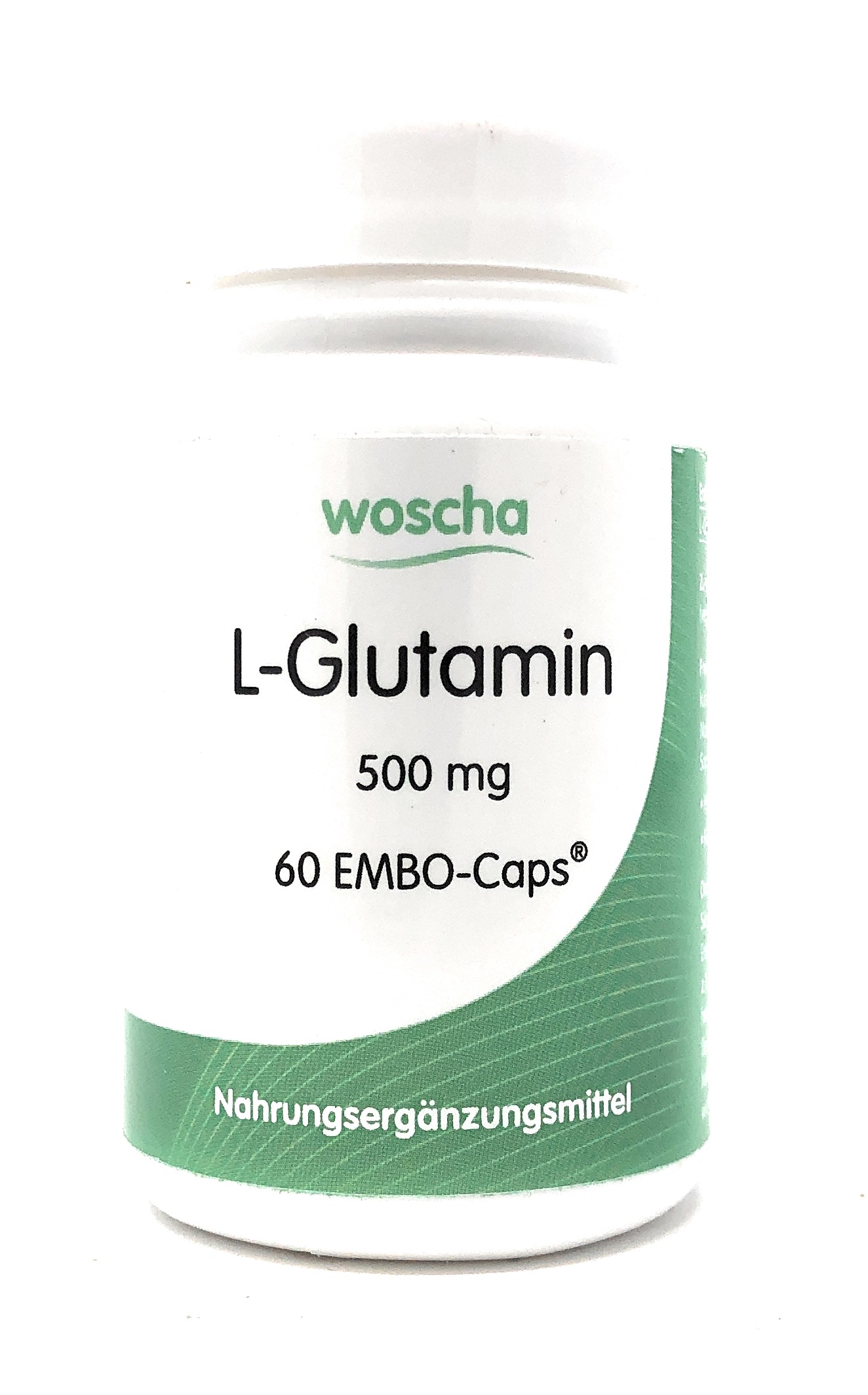 woscha L-Glutamin 500mg 60 Embo-CAPS® (35g) (vegan)