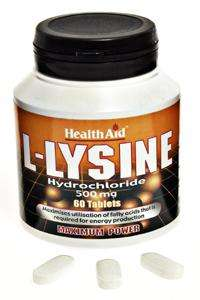 Health Aid L-Lysine HCI 500mg 60 Tabletten