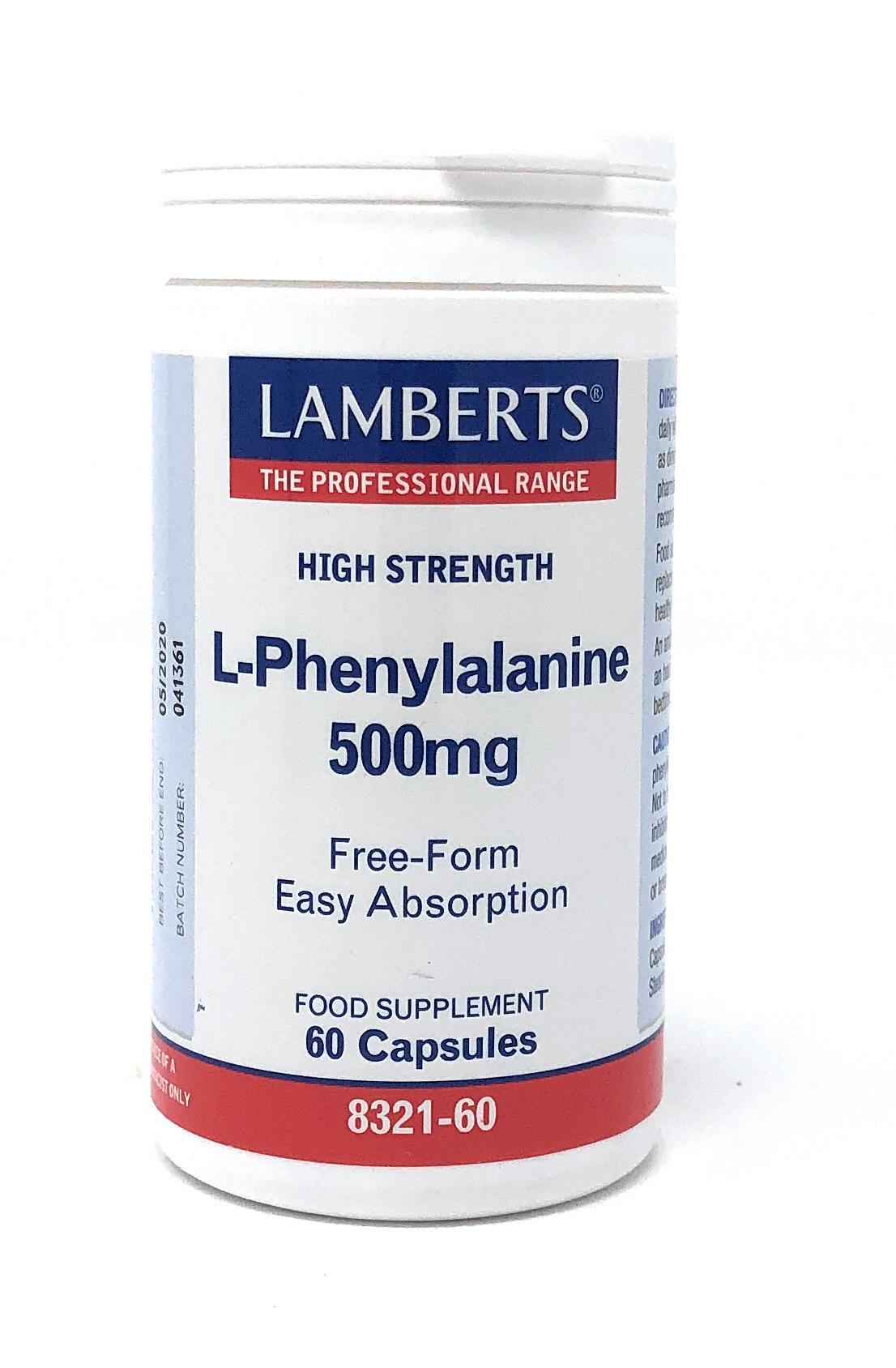 Lamberts Healthcare Ltd. L-Phenylalanin 500 mg 60 Kapseln