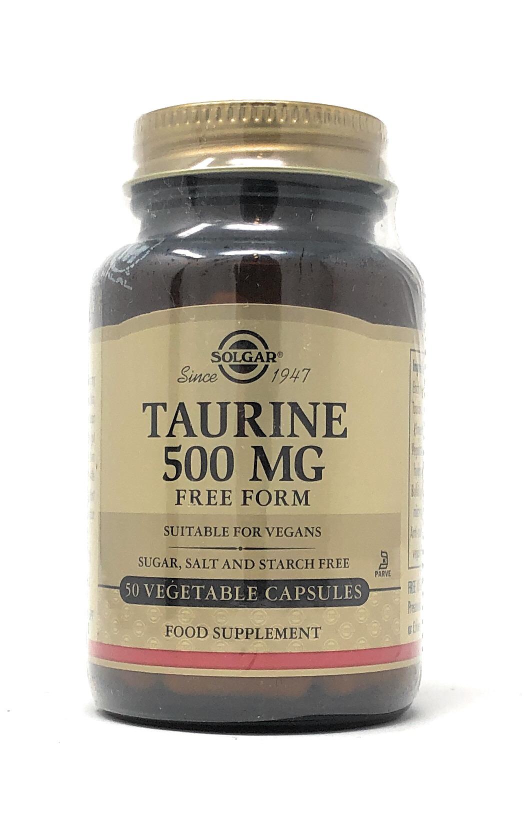 Solgar Taurine (Free Form) 500mg 50 veg. Kapseln (vegan)