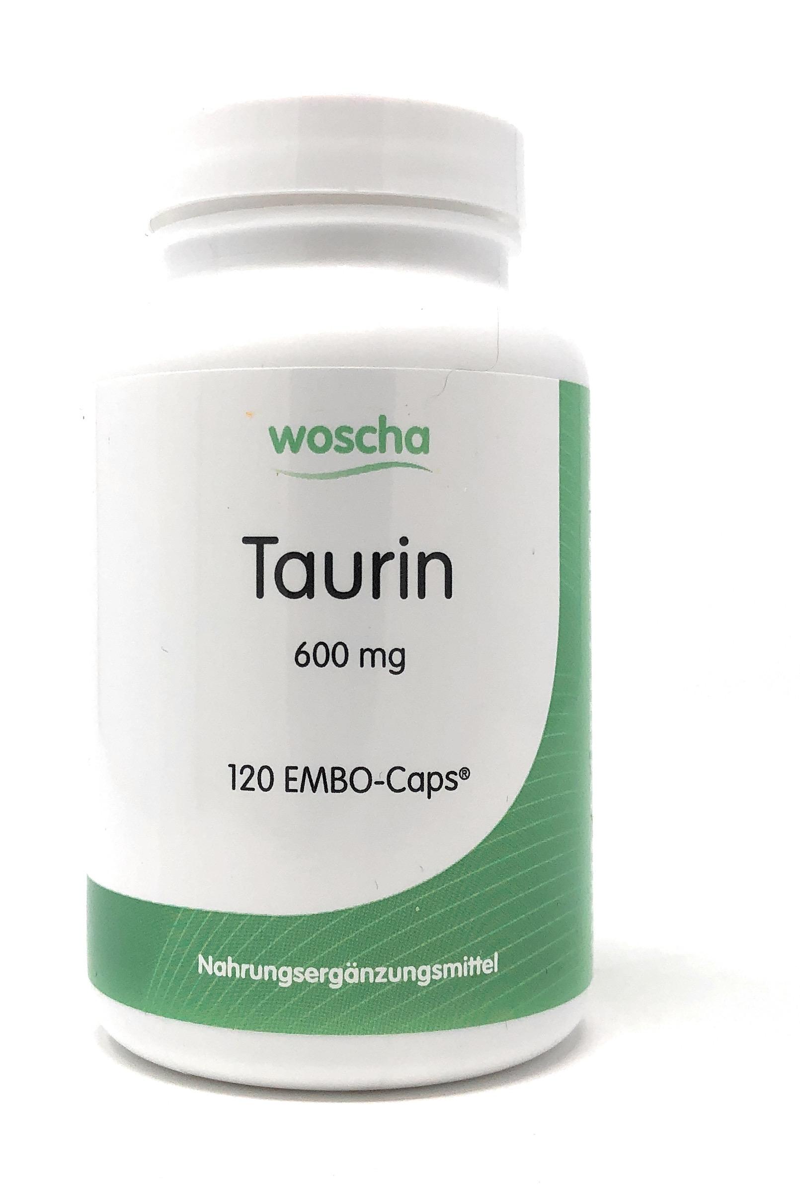 woscha Taurin 600mg 120 Embo-CAPS® (99g)(vegan)