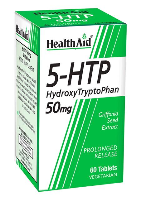 Health Aid 5-Hydroxytryptophan (5-HTP) 50mg S/R (verz. Freisetzung) 60 Tabletten