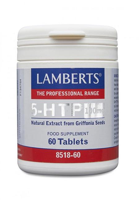 Lamberts Healthcare Ltd. 5-HTP (L-5-Hydroxytrytophan) 100mg 60 Tabletten (vegan)