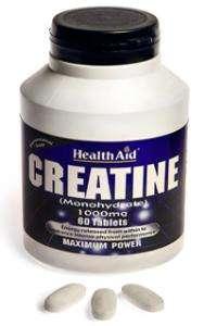 Health Aid Creatine Monohydrate 1000mg 60 Tabletten