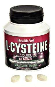 Health Aid L-Cysteine with Vitamin B6 550mg 60 Tabletten