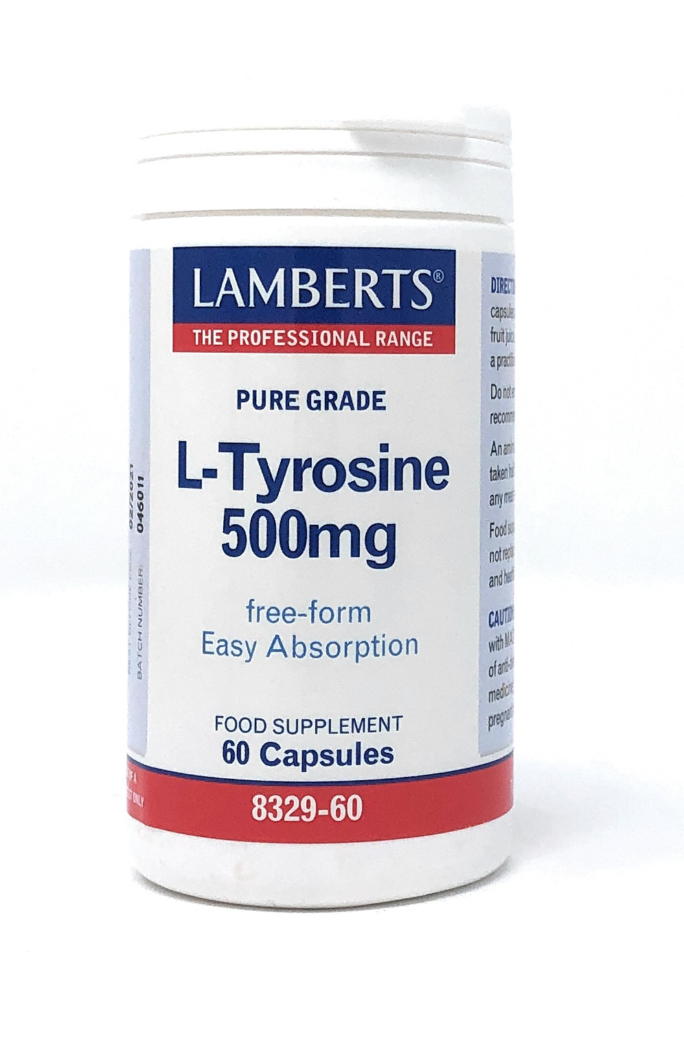 Lamberts Healthcare Ltd. L-TYROSINE 500mg 60 Kapseln