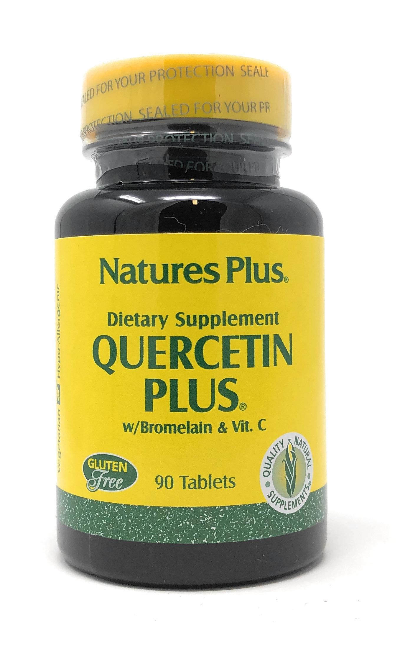 Natures Plus Quercetin Plus (Quercetin + Bromelain) 90 Tabletten (83,2g)