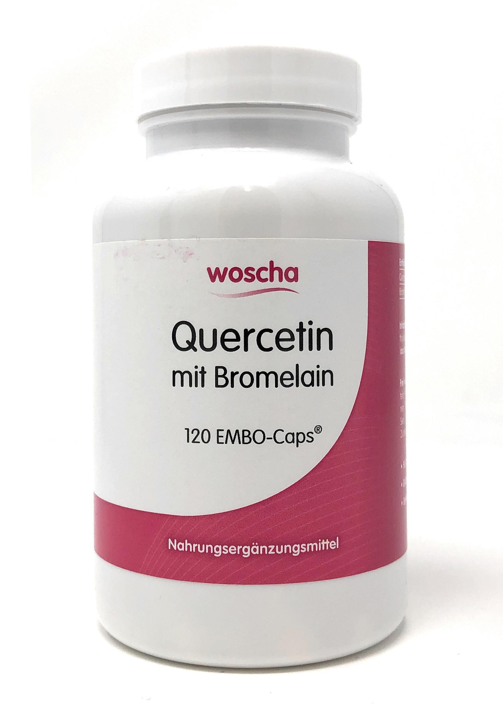 woscha Quercetin mit Bromelain 120 Embo-Caps (74g)(vegan)
