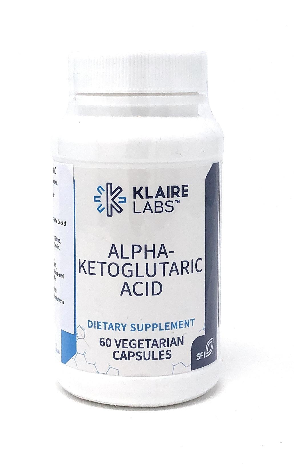 Klaire Laboratories Alpha-Ketoglutaric Acid (300 mg) 60 veg. Kapseln (25g)