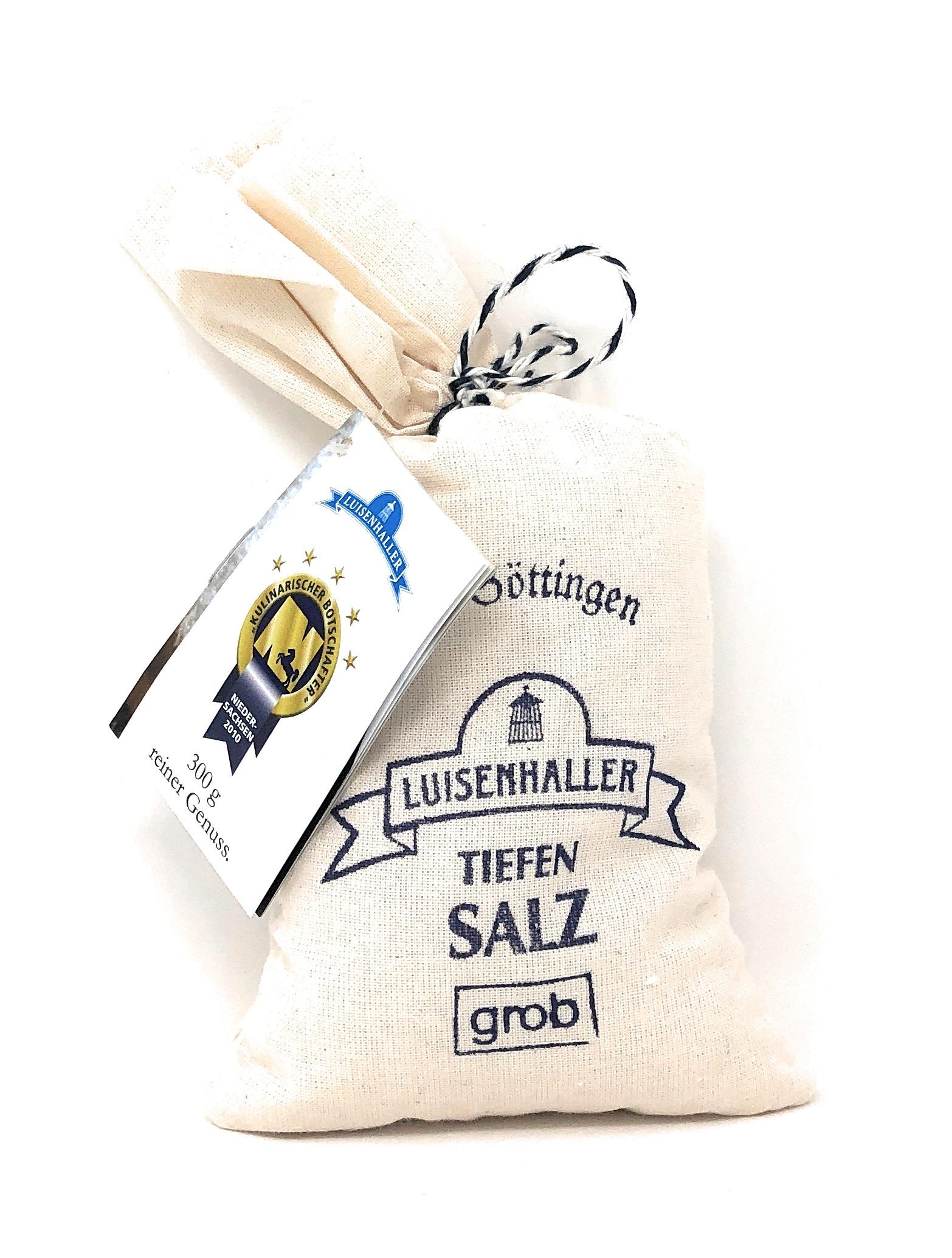 Saline Luisenhall Luisenhaller® Tiefensalz Grob im Leinensäckchen 300g