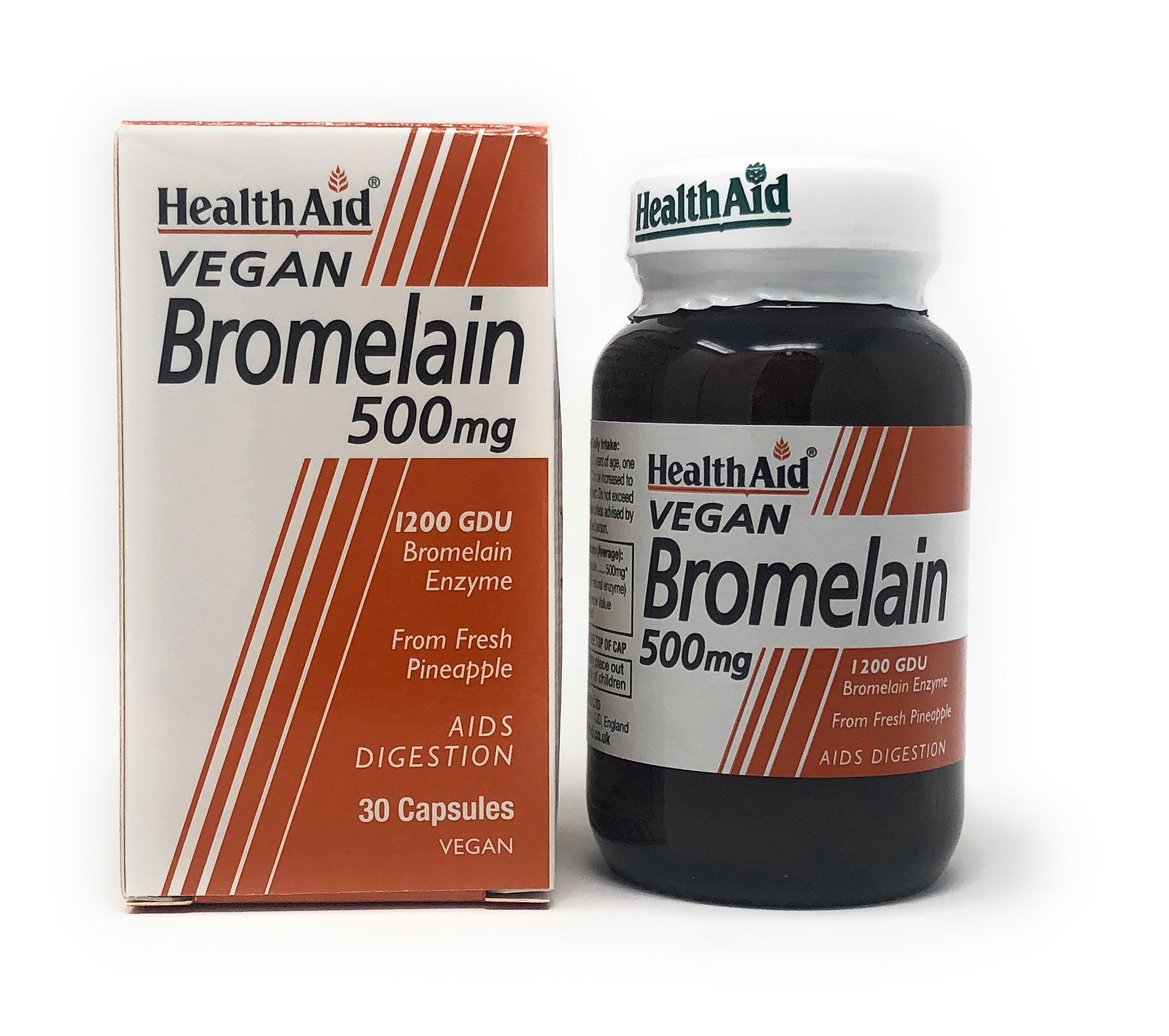 HealthAid Bromelain 500mg 30 veg. Kapseln (vegan)