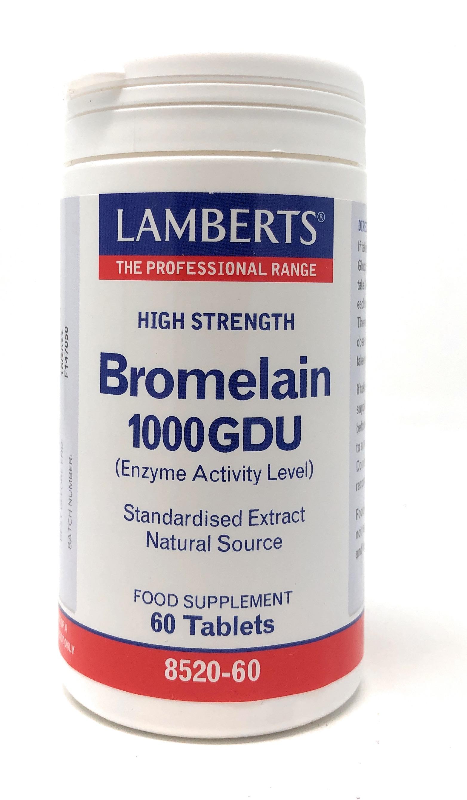 Lamberts Healthcare Ltd. Bromelain 1000 GDU 60 Tabletten