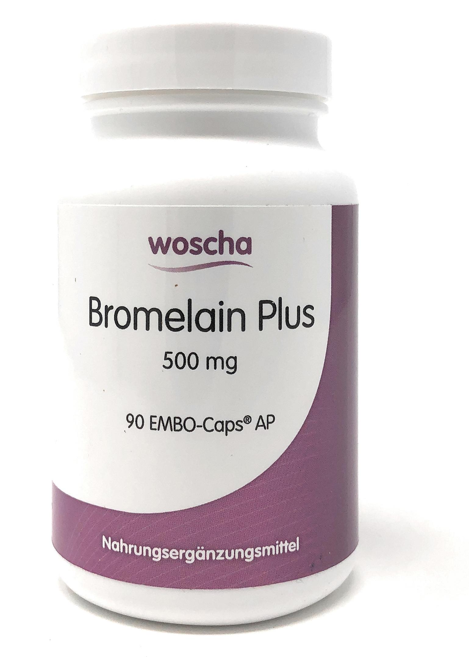 woscha Bromelain Plus 500 mg 90 Embo-Kaps AP (53g) (vegan)
