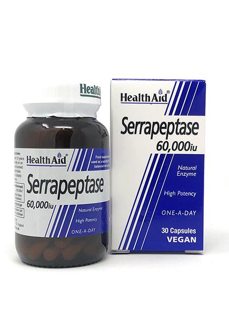 HealthAid Serrapeptase 60.000 IU 30 veg. Kapseln (vegan)