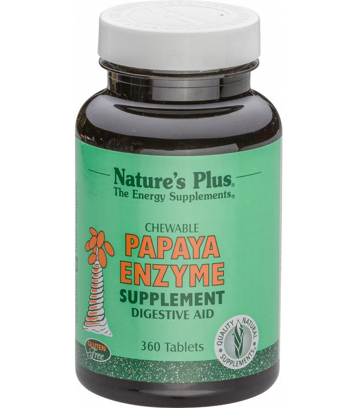Natures Plus Papaya Enzyme Chewable 360 Kautabletten (159,3g)