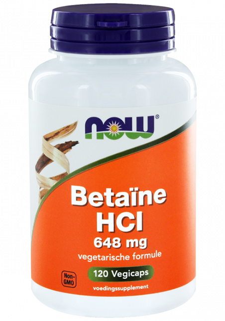 NOW Foods Betaine HCl 648mg 120 veg. Kapseln