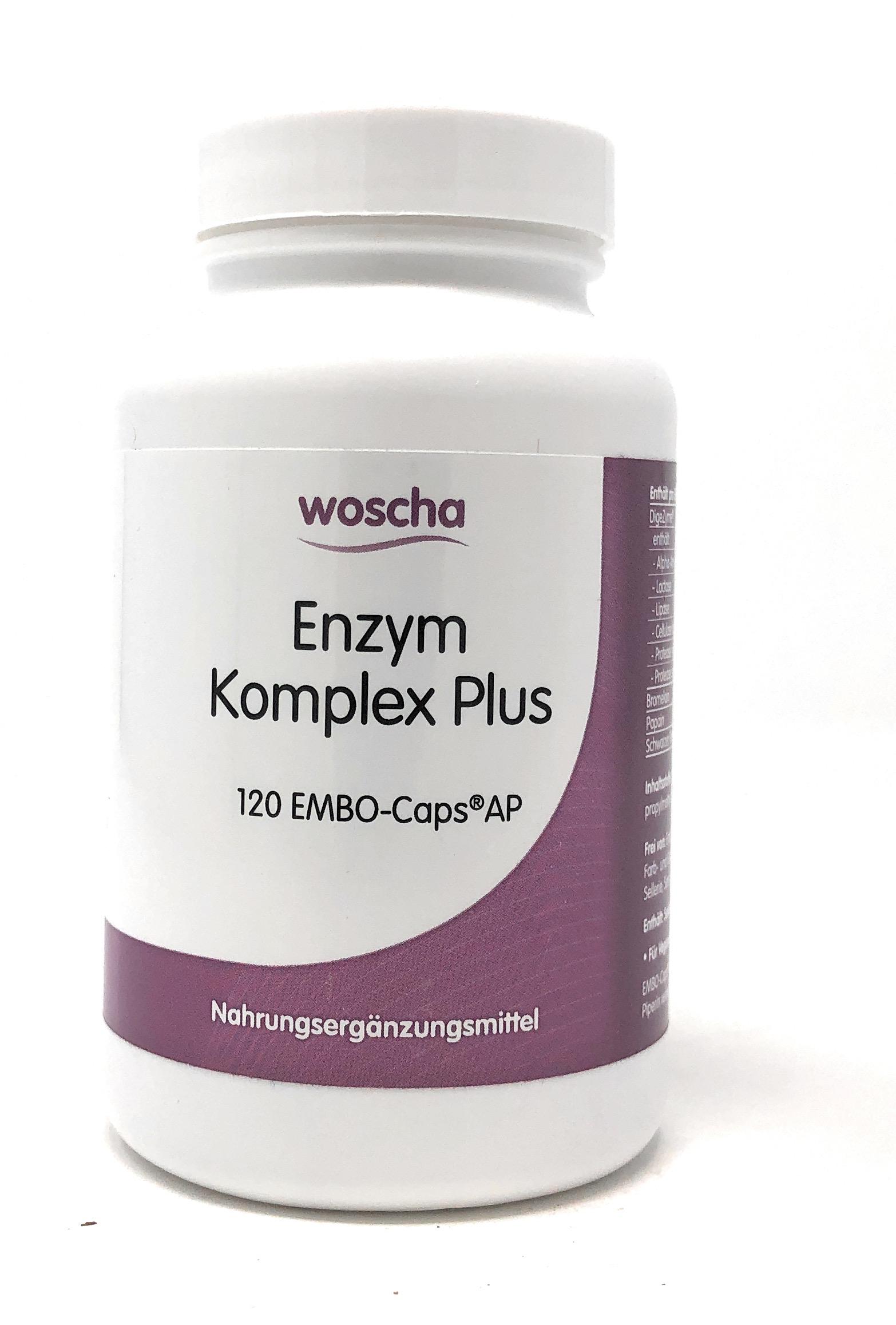 woscha Enzym Komplex Plus 120 Embo-Caps AP (72g) (vegan)