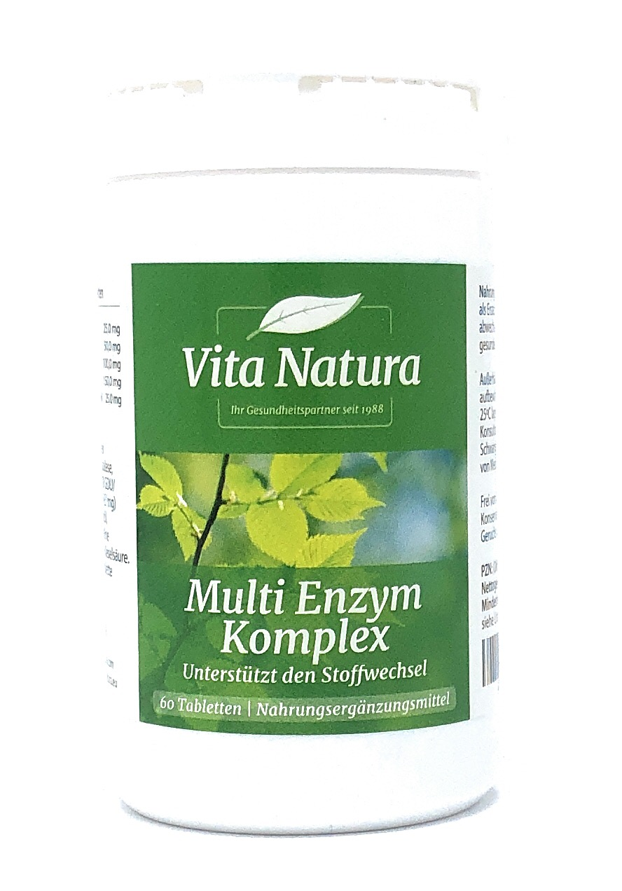 Vita Natura Multi Enzym Komplex 60 Tabletten (38,7g)