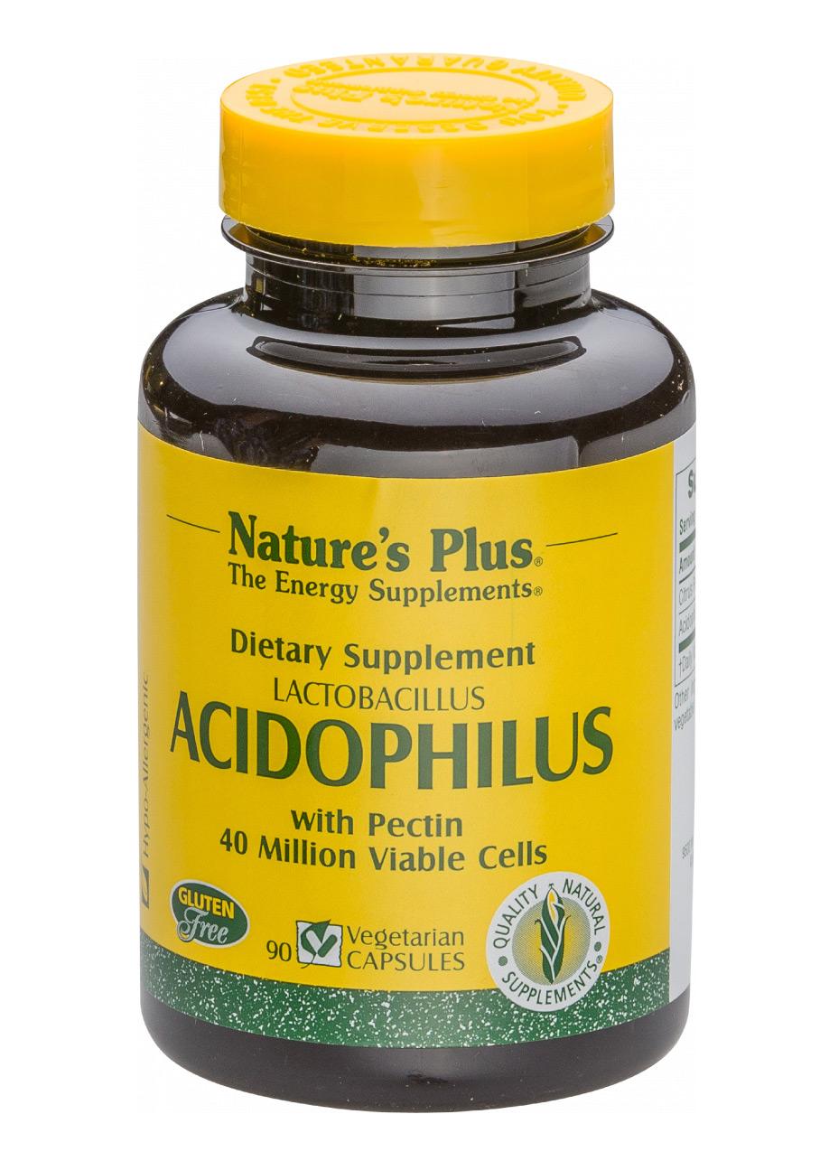 Natures Plus Lactobacillus Acidophilus with Pectin  (40 Million) 90 veg. Kapseln