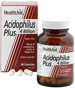 Health Aid Acidophilus Plus 4 Billion 60 veg. Kapseln (vegan)