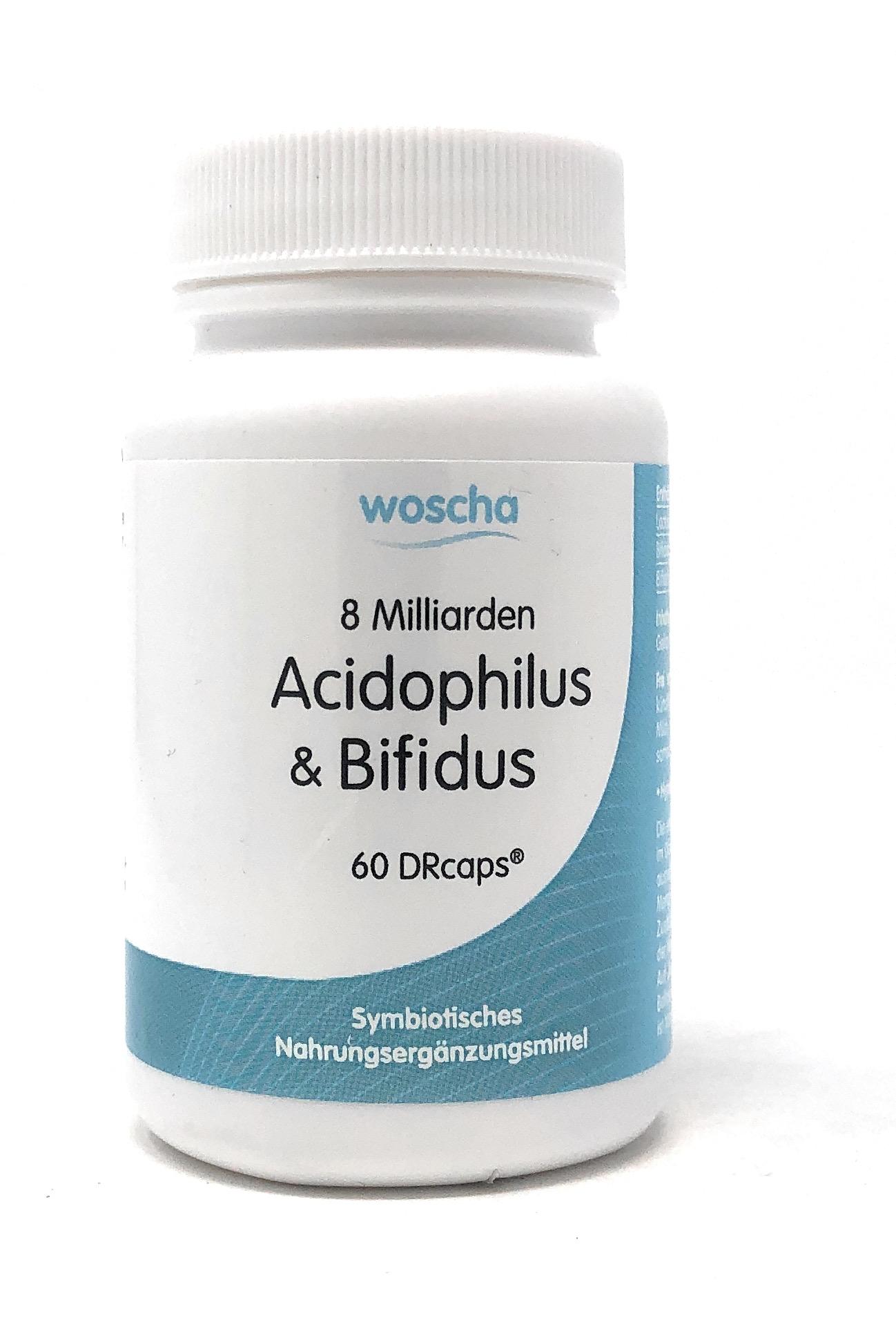 woscha 8 Milliarden Acidophilus und Bifidus 60DRcaps (25g)(vegan)