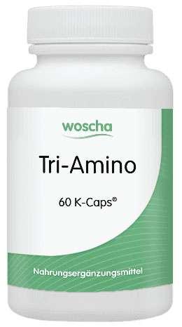 woscha TRI-AMINO 60 veg. Kapseln (K-Caps) (55g)