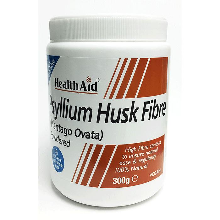 HealthAid Psyllium Husk Fibre (Flohsamen) 300g Pulver (vegan)