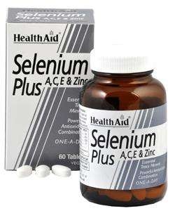 Health Aid Selenium Plus (Selen mit Vitamin A,C,E & Zink)  60 Tabletten (vegan)