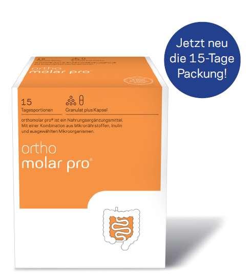 orthomed orthomolar® pro (Granulat + 1 Kapsel) 15 Tagesportionen (255g)