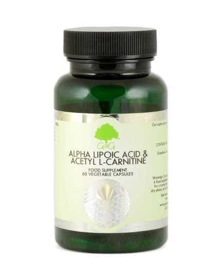 G&G Vitamins Alpha Lipoic Acid & Acetyl-L-Carnitin  60 veg. Kapseln (34,8g) (vegan)