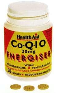 Health Aid CoQ-10 20mg S/R (verz. Freisetzung) 30 Tabletten (vegan)