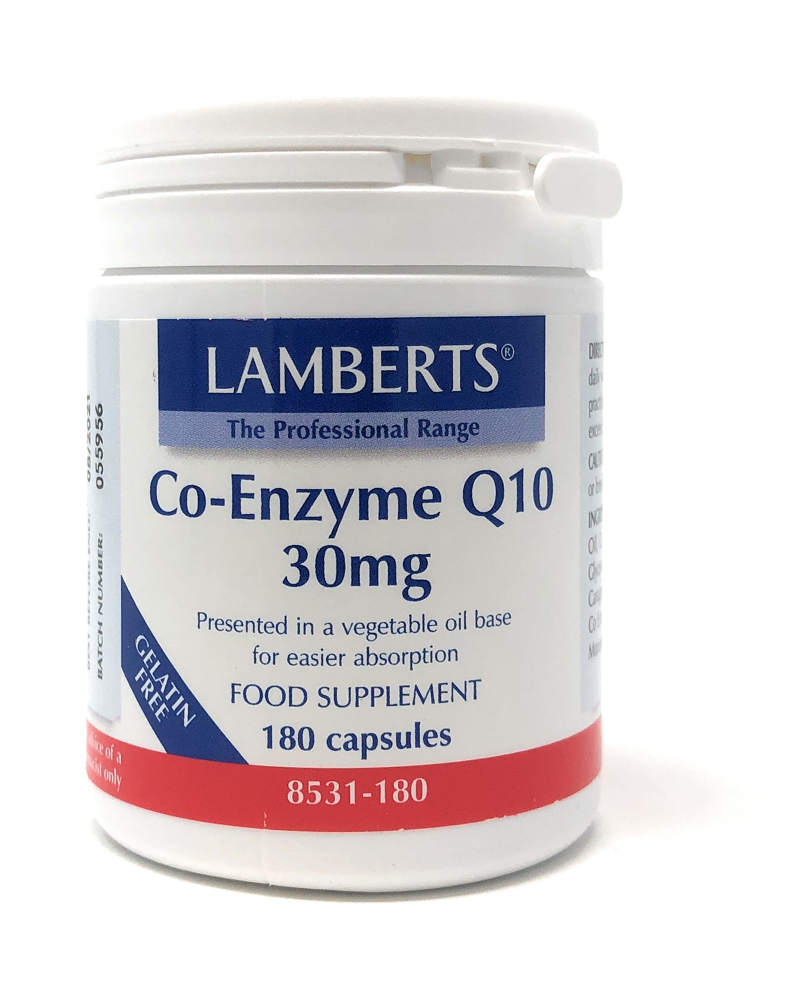 Lamberts Healthcare Co-Enzyme Q10 30mg 180 veg. Kapseln