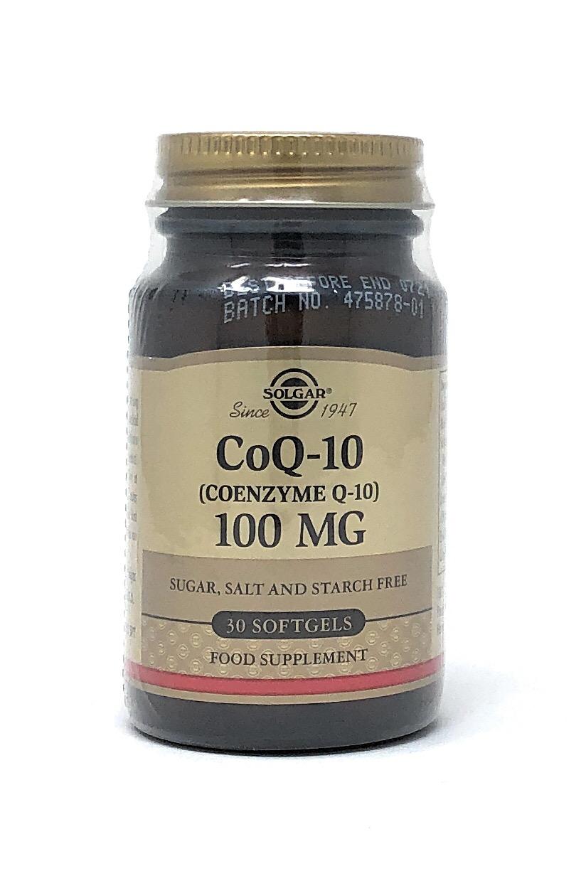 Solgar CoQ-10 (Coenzyme Q-10) 100mg 30 Softgels