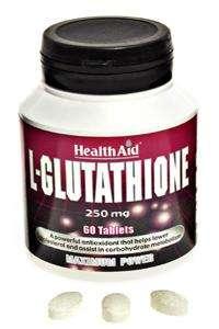 HealthAid L-Glutathione 250mg  60 Tabletten