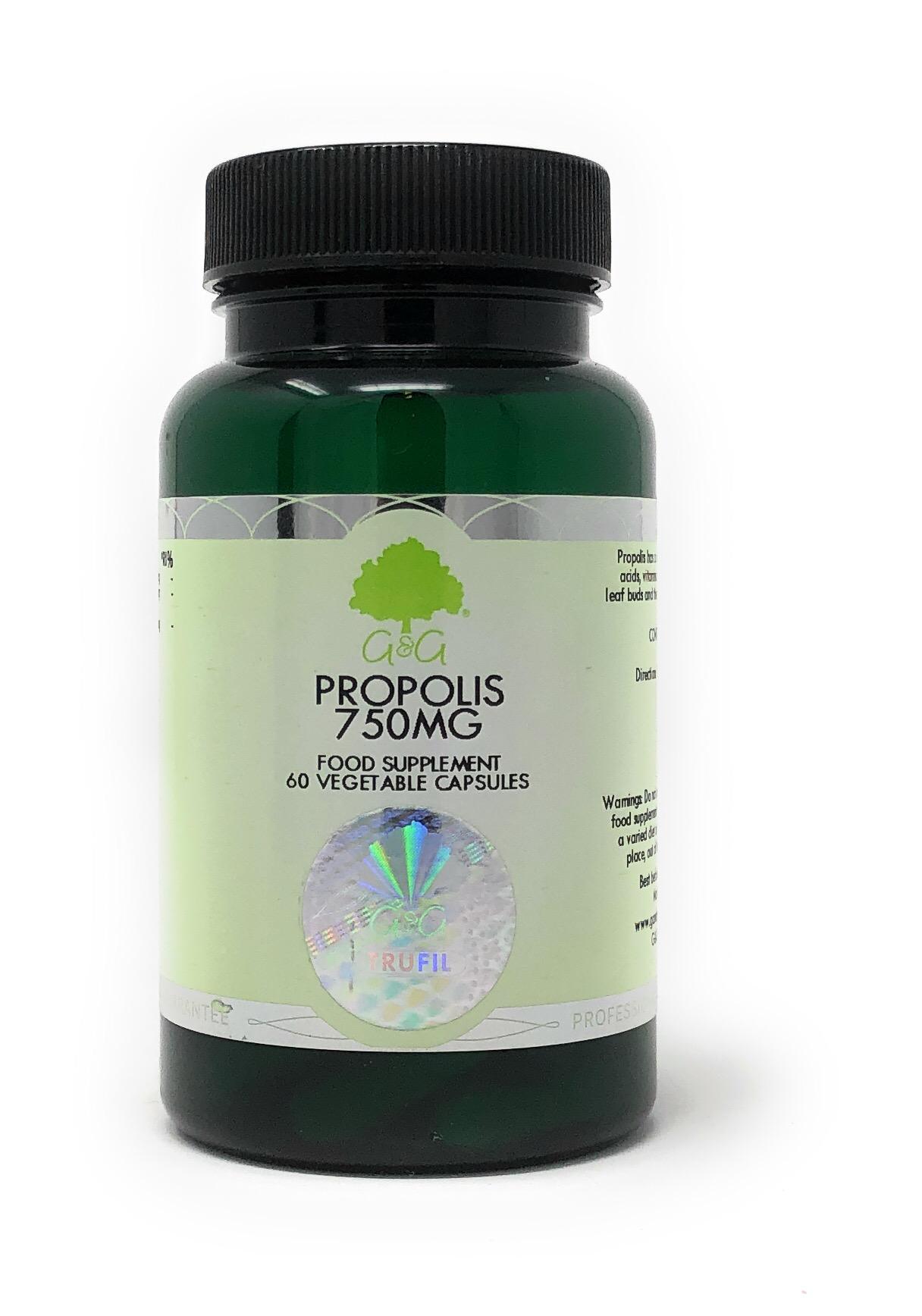 G&G Vitamins Propolis 750mg 60 veg. Kapseln (30g)