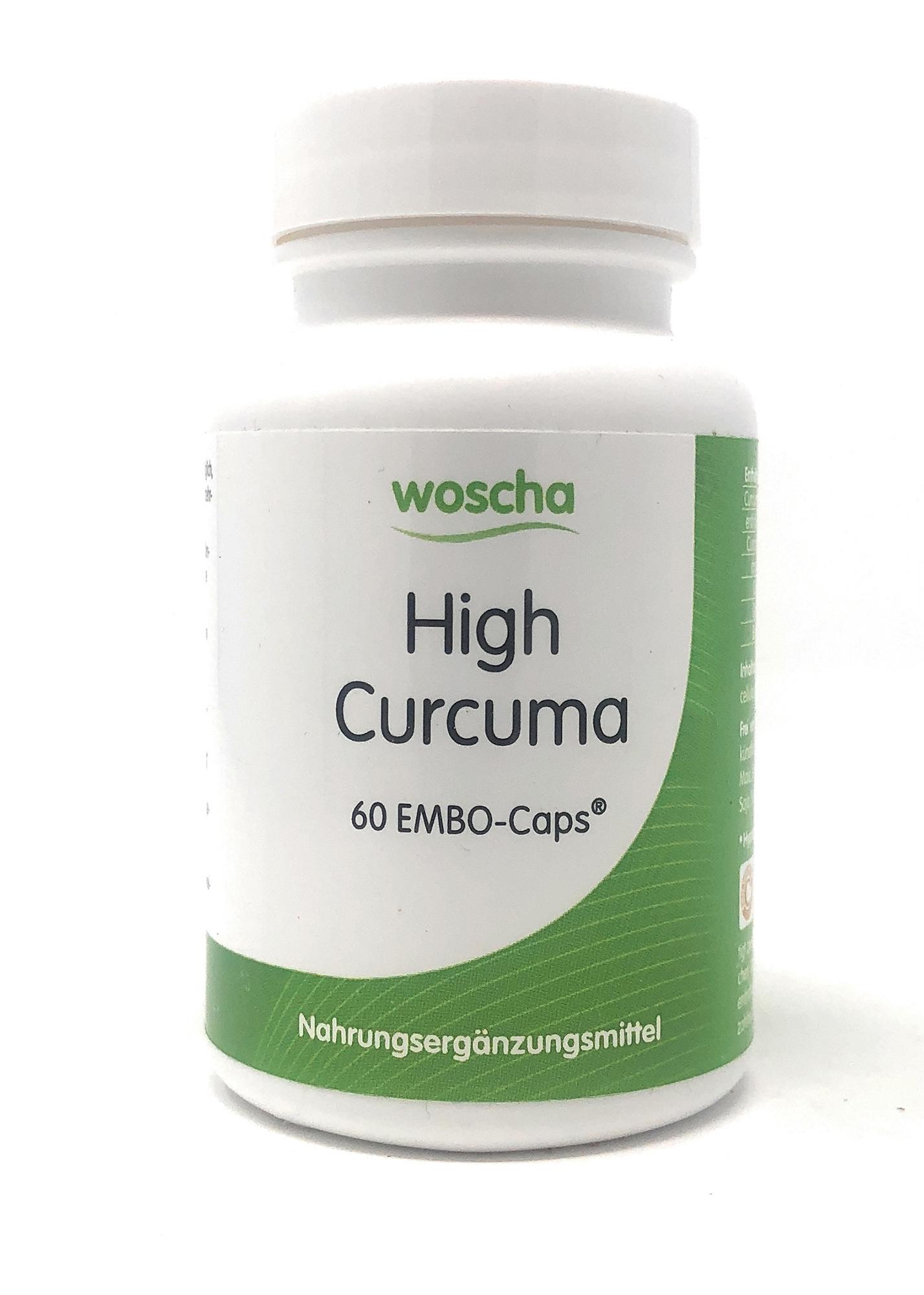 woscha High Curcuma 60 Embo-CAPS® (29g) (vegan)