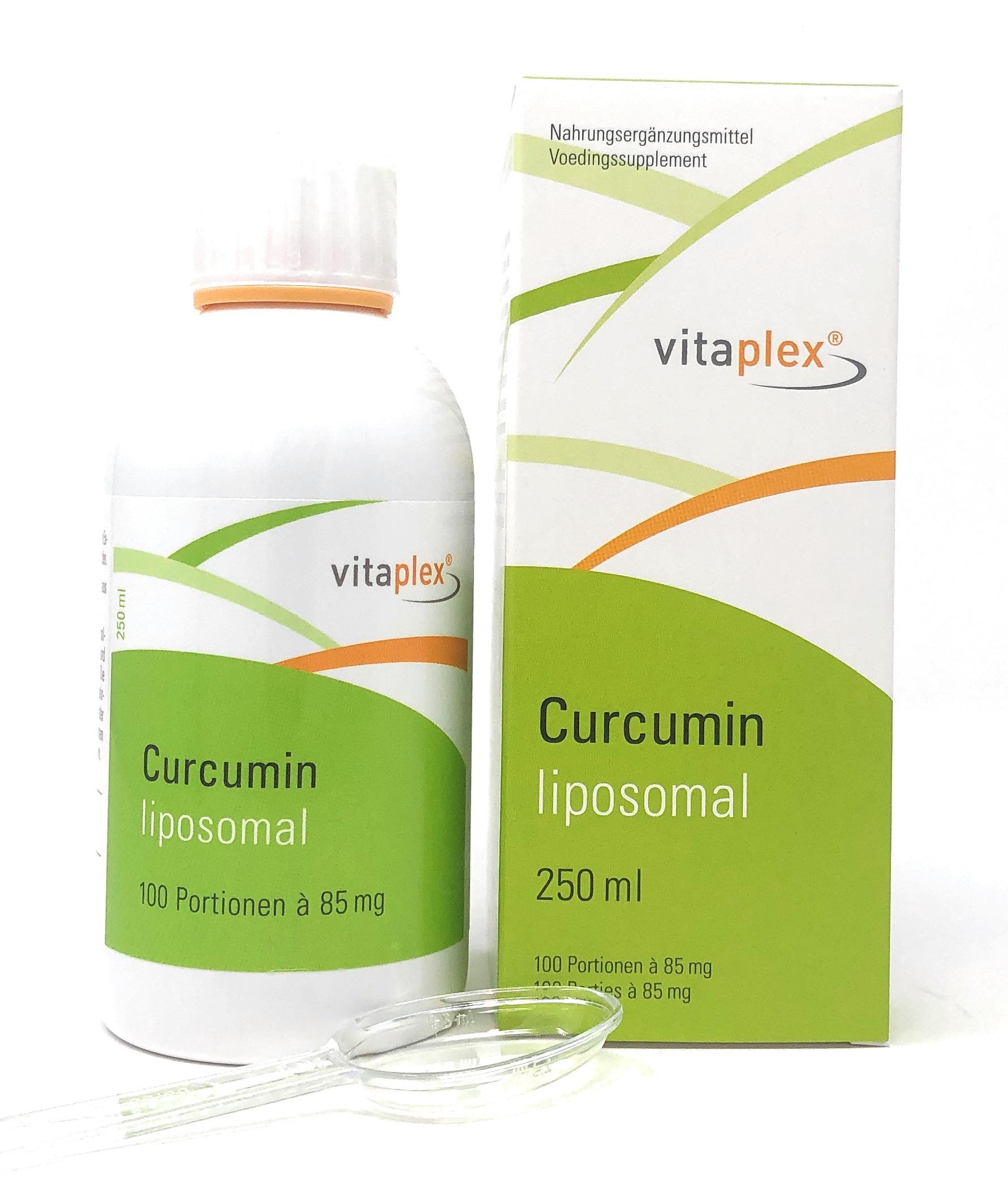 Vitaplex Curcumin liposomal 250ml (100 Portionen à 85mg)