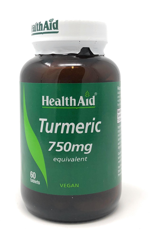 HealthAid Turmeric 750mg (Curcumin /Gelbwurz) 60 Tabletten (vegan)
