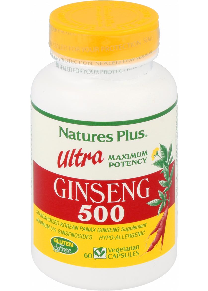 Natures Plus Ultra Ginseng 500 mg 60 veg. Kapseln