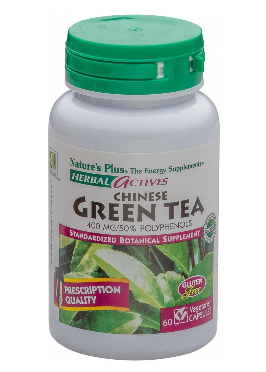 Natures Plus Chinese Green Tea 400 mg 60 veg. Kapseln (vegan)